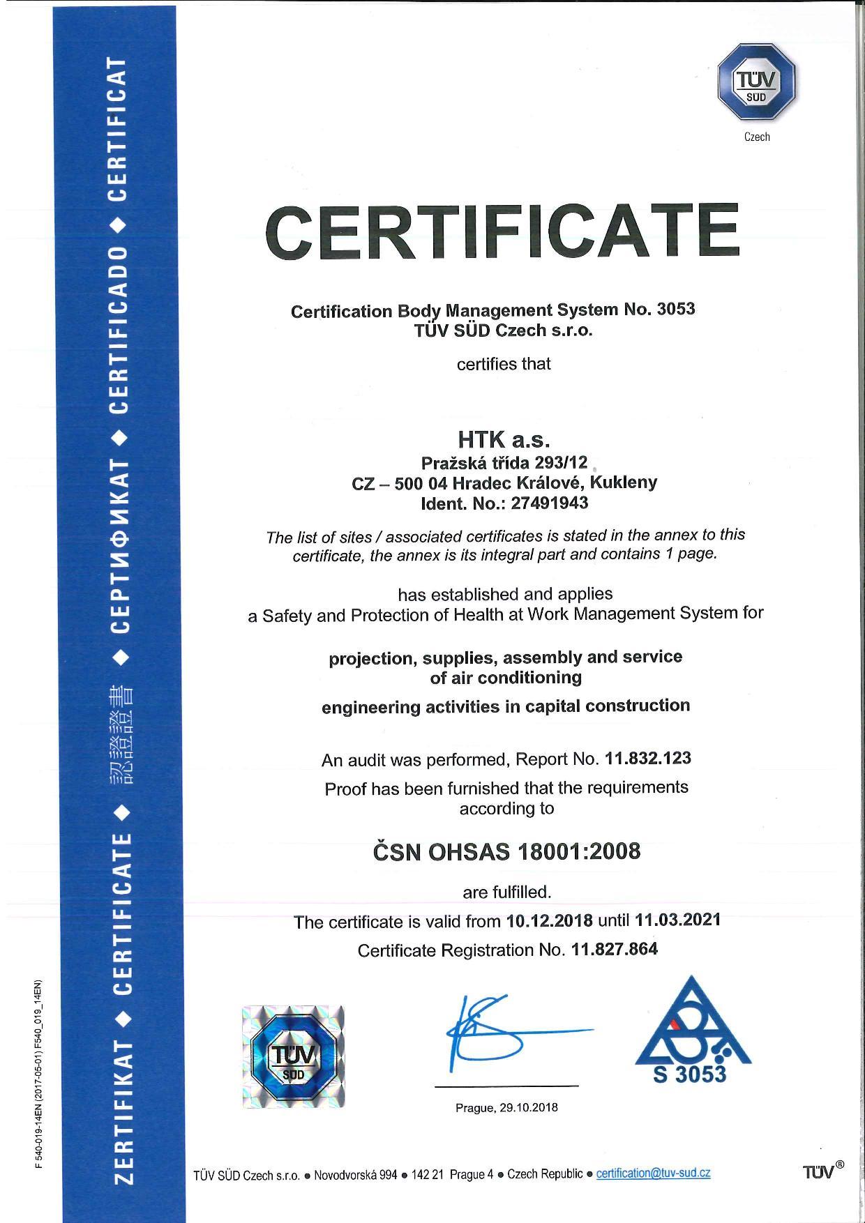 ČSN OHSAS 18001:2008